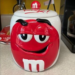 M&M 'Red' Cookie or Candy or Storage Jar